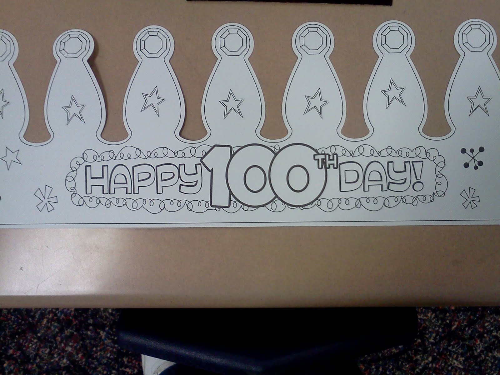 100th day hat template - 28 images - 100 days smarter crown hat ...