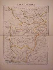 عام 1880م خريطة بلوشستان الشرقية بعد التقسيم