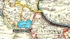 1800 م خريطة بلوشستان المستقلة