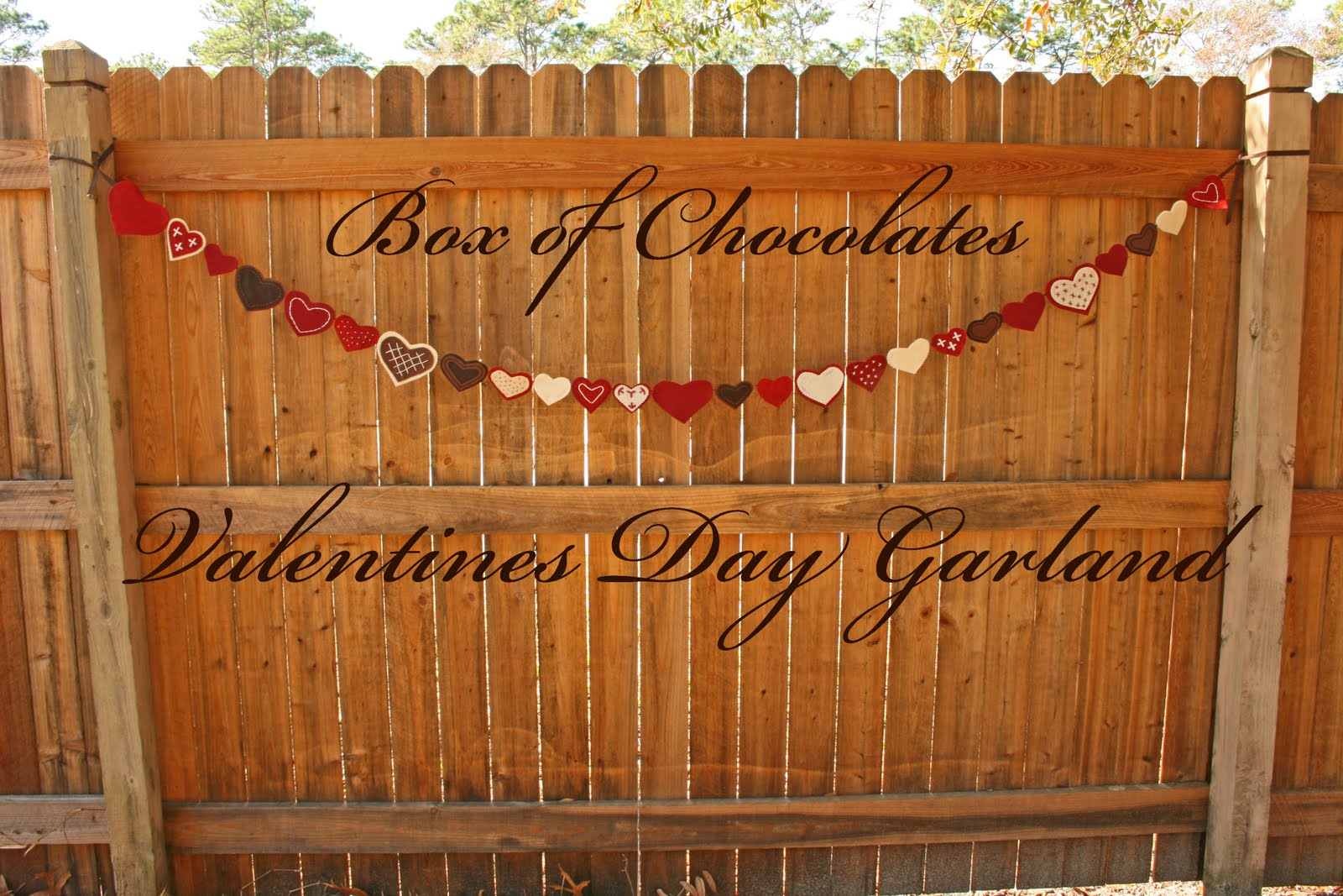 insanely crafty: Box of Chocolates Garland Giveaway
