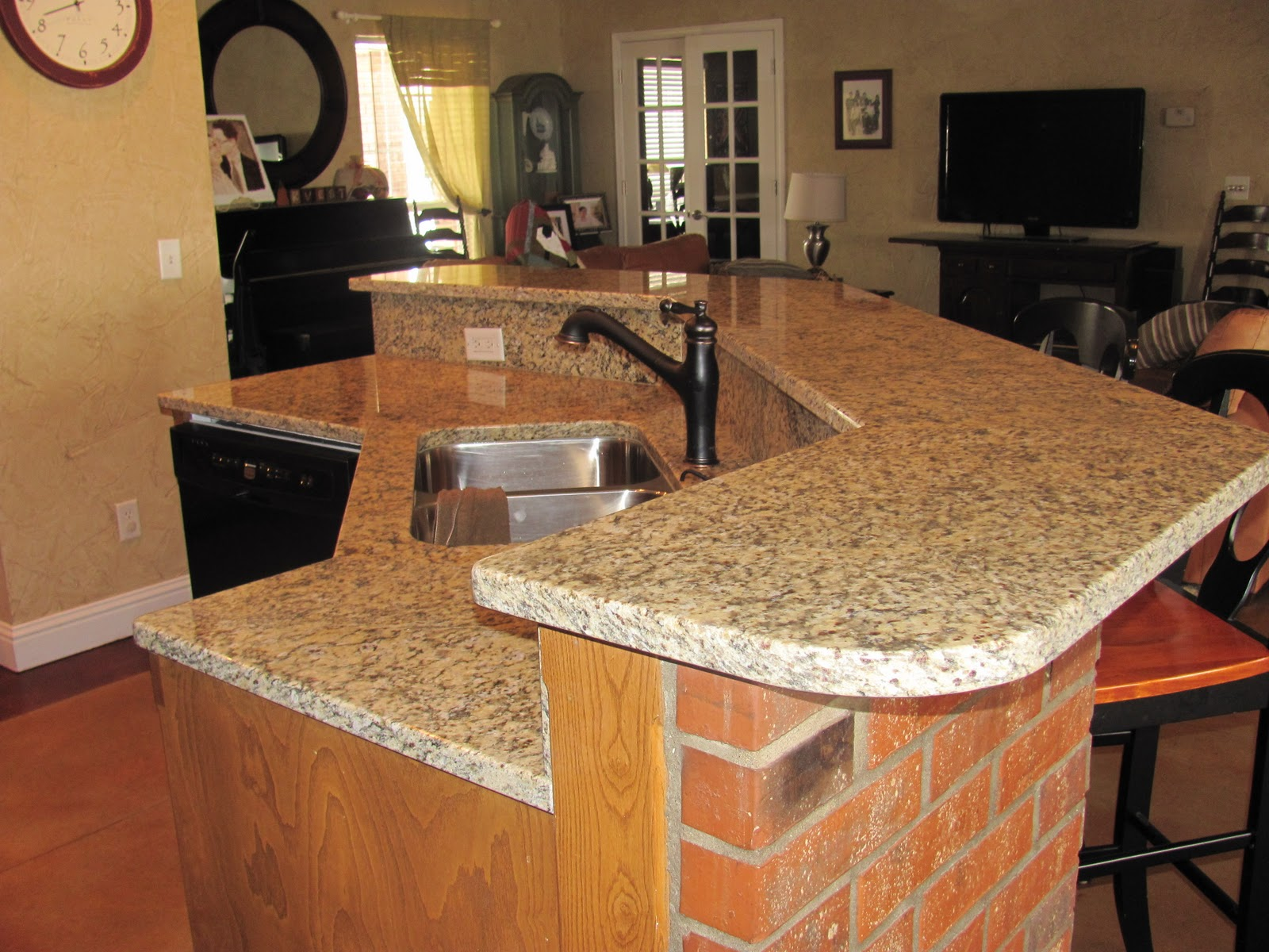 Robinstar quilting new granite counter tops for Kitchen countertops