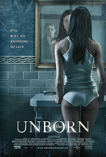 Odette Yustman butt ass panties Unborn poster horror hot girl