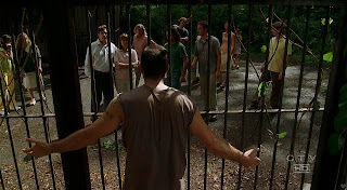 Jack Lost island caged tailies Matthew Fox