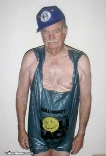 old man wal mart bag bikini