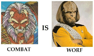 Combat Younblood Rob Liefeld Worf Star Trek