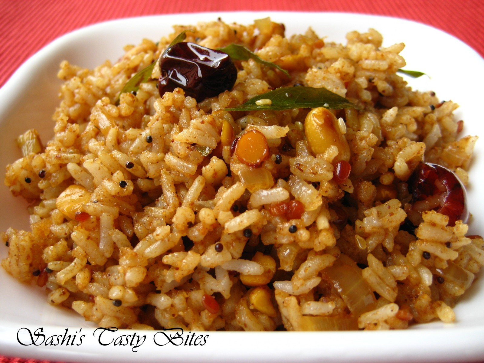love tamarind rice method andhra tamarind rice for 2 cups of cooked ...