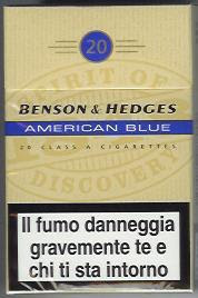Io Fumo: BENSON & HEDGES AMERICAN BLUE