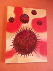 Vírus HIV pintado por Sergio Rossi