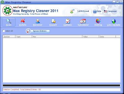 Max Registry Cleaner 2011 + Crack 2