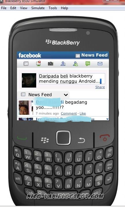 Update Status 'via Facebook for Blackberry' tanpa punya Blackberry (II