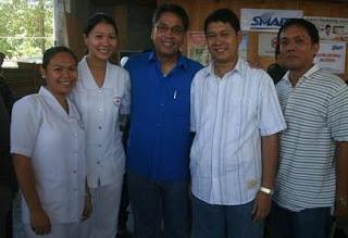 With Senator Manuel Roxas and City Mayor Pedro B. Acharon, Jr. and the BNDees FJ Babate, Maierelle Paje and Karen NAcis