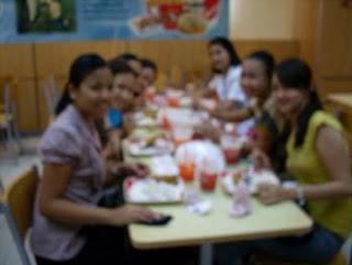 Post-workshop evaluation session at KFC
