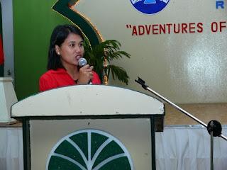 Prof. Maela Babate of Notre Dame of Dadiangas University