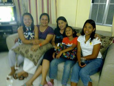 The wives: Joy Diez, Eleanor Deposa, Maela Babate, Liza Siao