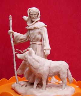 Orme Magiche statua Scultura San Francesco statuine pastorello presepe artigianale personalizzato