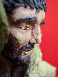 Orme Magiche Scultura San Francesco statuetta santo fatto a mano santi pastore statuini presepio artigianali personalizzate