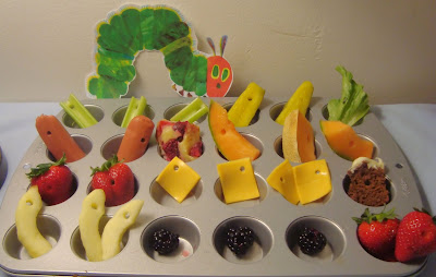 Muffin Tin Monday: Very Hungry Caterpillar Style! by The Masked Mummy