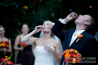fun shots after ceremony atlanta wedding