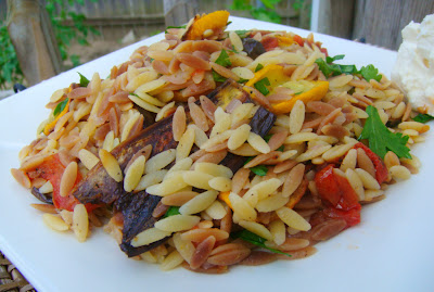 Pray to Feta: Toasted Orzo with Roasted Garden Vegetables