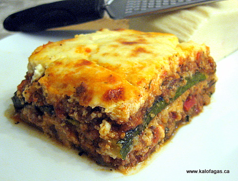 and then I put an egg on it.: Moussaka