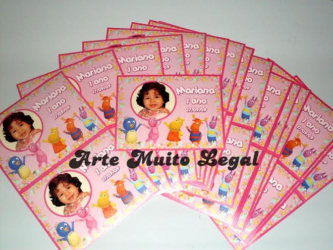 Arte muito legal - Convites infantis de aniversário e lembrancinhas