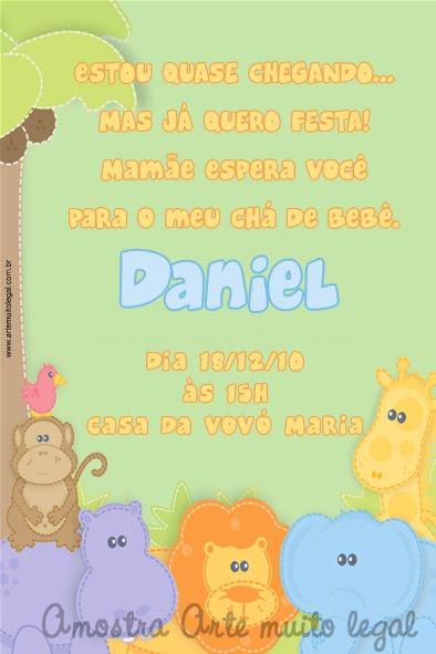 Convites infantis e lembrancinhas de aniversário - Arte muito legal
