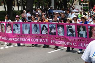 Manifestacion en Ciudad Juarez