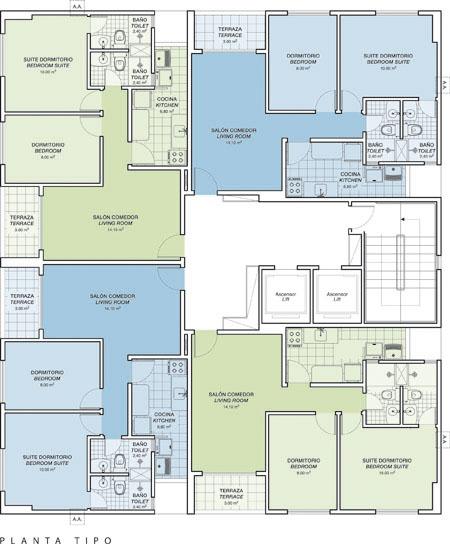 Planos de vivienda de 57m2 planos de casas gratis y for Planos para viviendas
