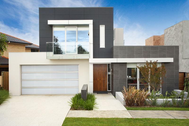 Fachada moderna casas sostenibles fachadas de casas y for Colores en casas minimalistas