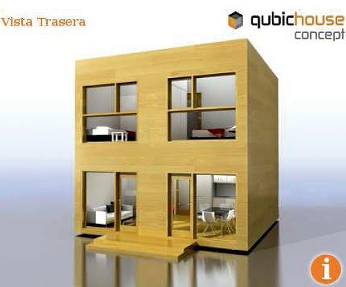 Casa minimalista y economica en forma de cubo decoracion for Decoracion economica casa