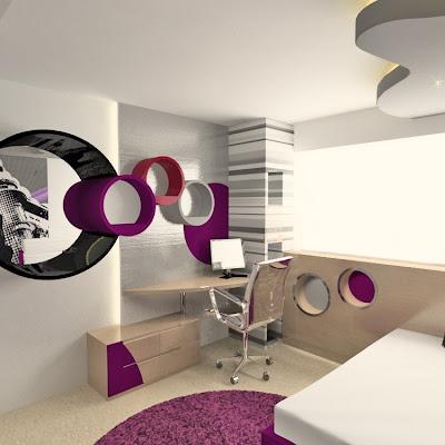 Habitación Billie Escritorio-en-dormitorio-para-chica-joven-recamara-de-nena
