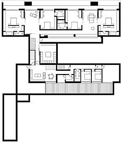 plantas de casas. una casa grande en un gran