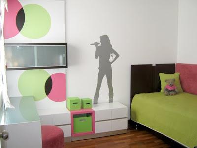 Habitación de Melissa Dormitorio-rosayverde