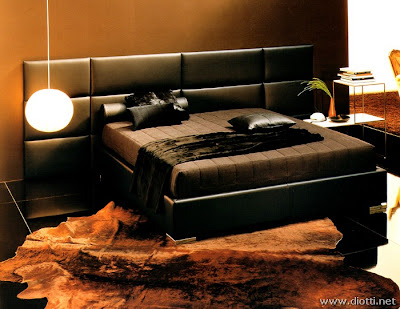 Post del color negro decorar tu casa es - Camere da letto in pelle ...
