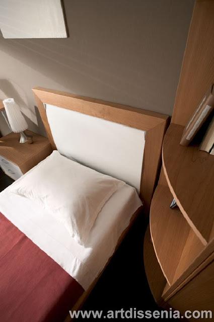 Dormitorio juvenil y elegante con closet en esquina