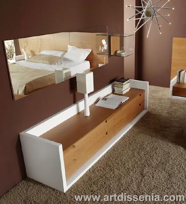 Decoracion dise o dormitorio matrimonial en madera color - Dormitorios en blanco y madera ...