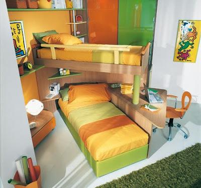 Recamaras juveniles con desnivel for Dormitorio juvenil nino