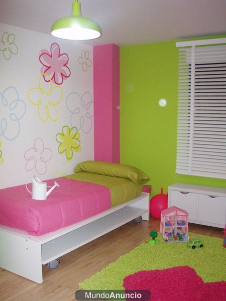 Murales vinilos adhesivos pegatinas para dormitorios for Decoracion de dormitorios infantiles de nina