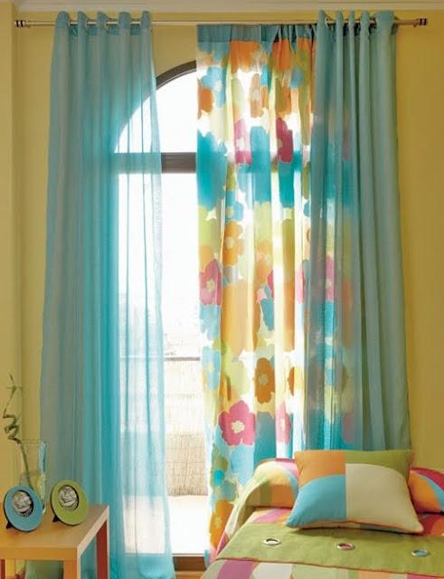 Dormitorios amarillos dormitorios con colores - Cortinas para dormitorio juvenil ...