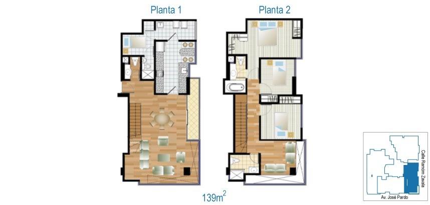 Planos de casas gratis y departamentos en venta planos de for Plano departamento 2 dormitorios