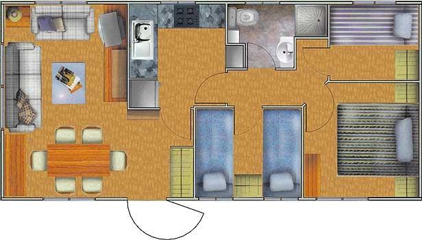 Plano de casa de 40m2 y 3 dormitorios planos de casas for Distribucion de apartamentos de 40 metros