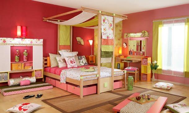 Dormitorio oriental infantil - Habitaciones estilo japones ...