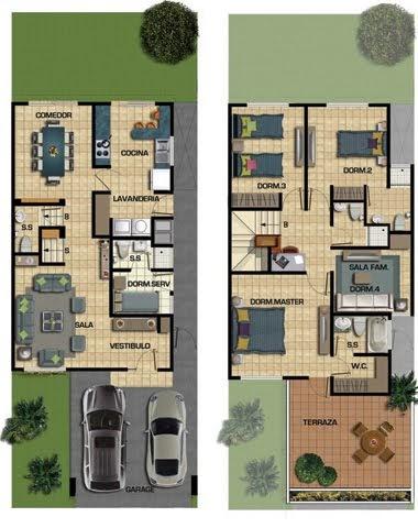 Planos de casas gratis y departamentos en venta plano de for Diseno de apartamento de 4x8 mts