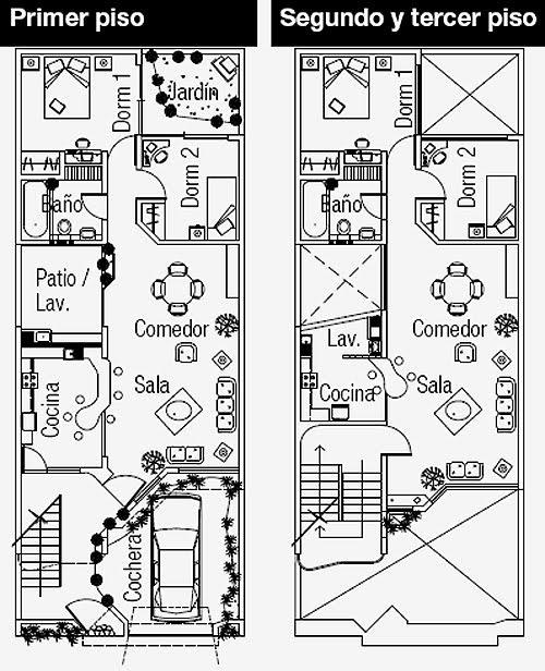 Planos de casas gratis y departamentos en venta planos de for Departamentos minimalistas planos