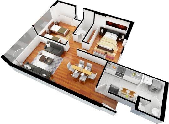Planos de casas gratis y departamentos en venta for Planos de departamentos 3 dormitorios