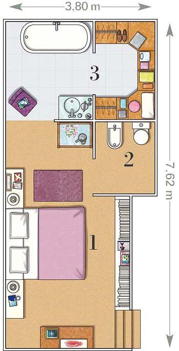 Baños Con Vestidor Planos:Planos De Dormitorios