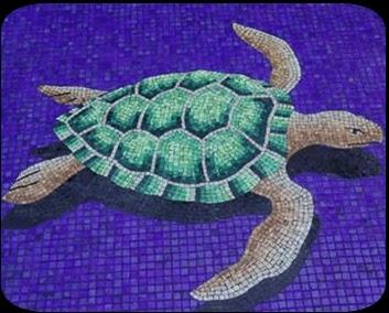 Piscina con animales en 3d mosaicos bizantinos para for El mural de mosaicos
