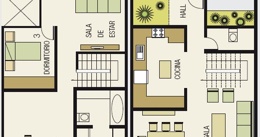 planos de casas modernas de 8x15
