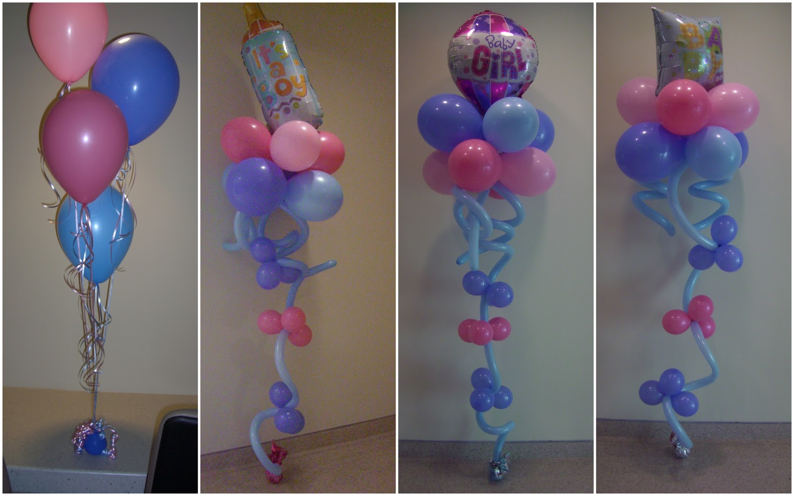 Baby shower balloon centerpieces party favors ideas for Baby shower foam decoration
