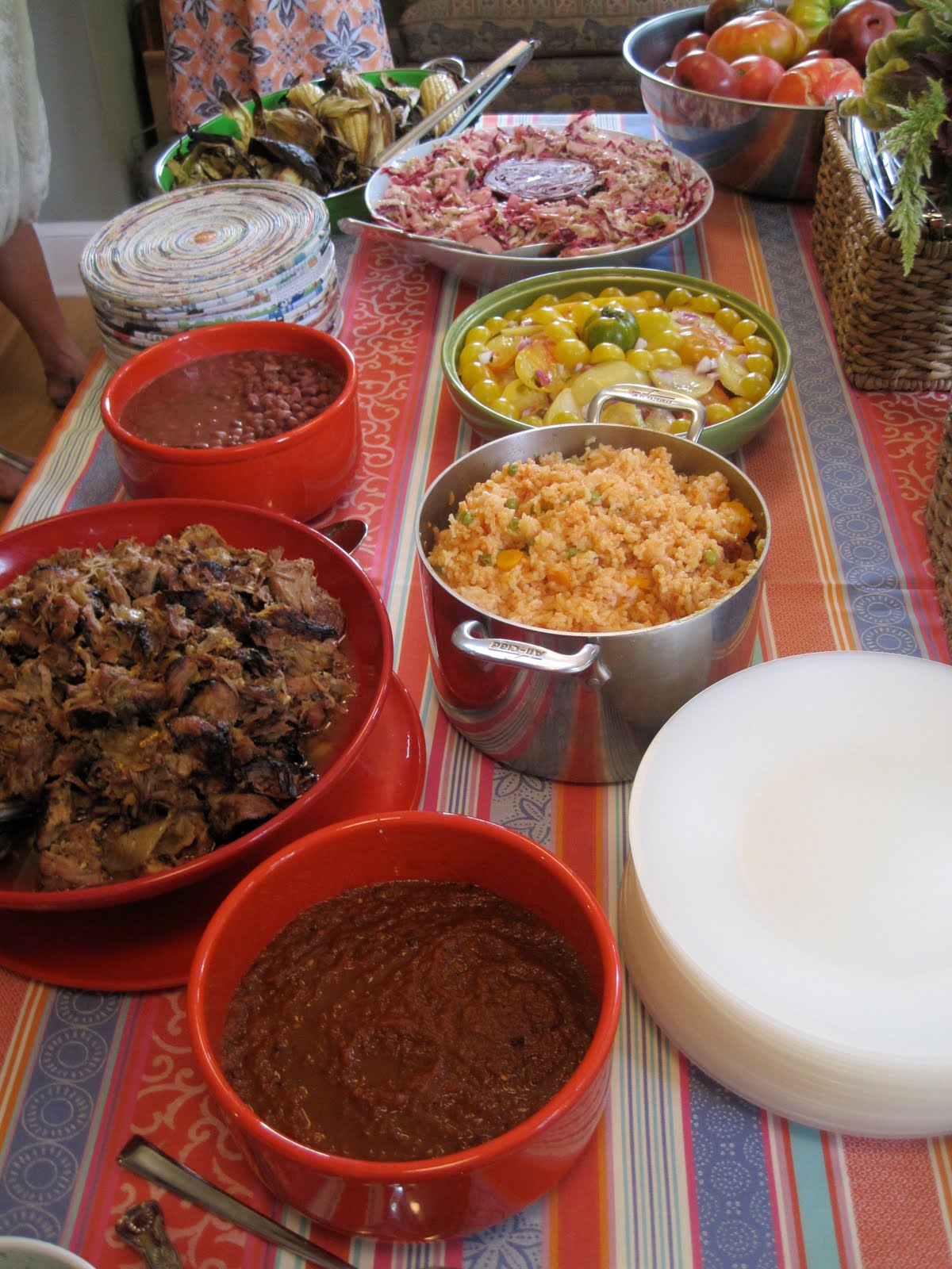 Cooking for a Crowd: Carnitas and Red Chile Sauce | Mrs Wheelbarrow's ...